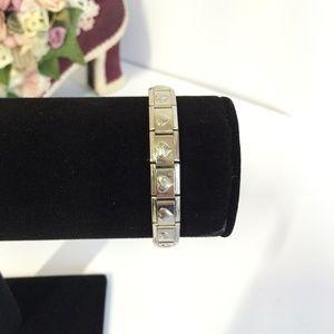 Cute Tiffany's Silver tone Heart Bracelet